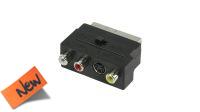 Adaptador audio e video RCA/S-Video a Euroconector