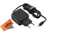 Carregador universal 110-240V Micro USB 5V/3A preto 1m.