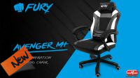 Cadeira Gaming Fury Avenger M+ negra/branca