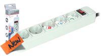 Régua com protecção contra picos de corrente e interruptor cinzenta 3 metros