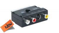 Adaptador bidireccional SCART a RCA/S-Video preto