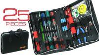 Kit de ferramentas manutenção electrónica 25 peças