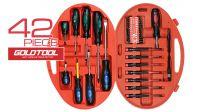 Kit de ferramentas chaves+ponteiras 42 peças