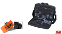 Mala de ferramentas 2 em 1 com bolsa para documentos e alça preto