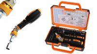 Kit de ferramentas com chave roquete inclinável e conjunto de pontas 69 peças
