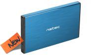 """Caixa Externa NATEC RHINO GO 2.5"""" SATA USB 3.0 Azul"""