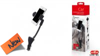 Carregador isqueiro 2p USB 2.1A com suporte smartphone