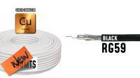 Bobine de cabo coaxial RG 59 75Ohm PVC preto 100m